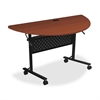 "Lorell Flipper Training Table - Half-round Top - 48"" Table Top Length x 24"" Table Top Width x 1"" Table Top Thickness - 29.50"" Height"