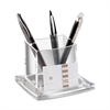 "AcryLight Refined Pencil Cup Holder - 3.5"" x 4.5"" x 4"" - Acrylic - 1 Each - Clear"