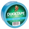 "Duck Brand Electric Blue Duct Tape - 1.88"" Width x 60 ft Length - 1 Roll - Blue"