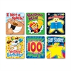 "Carson-Dellosa Braggin' Badges Colorful Sticker - Happy Birthday, I lost a tooth!, Super Kid, Star Student, Happy 100th Day!, Star Reader - 2.75"" Height x 3.50"" Width - Multicolor - 1 / Pack"