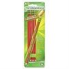 Ticonderoga Erasable Checking Pencil - Red Lead - Red Wood Barrel - 4 / Pack