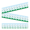 "Straight Border - 12 Fence - 0.13"" Height x 3.50"" Width x 38.13"" Length - Multicolor - 12 / Pack"