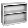 "Fortress Series Bookcases - 34.5"" x 13"" x 30"" - 2 x Shelf(ves) - Light Gray - Powder Coated - Steel - Recycled"