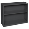 "Lorell Fortress Series Bookcases - 34.5"" x 13"" x 30"" - 2 x Shelf(ves) - Black - Powder Coated - Steel - Recycled"