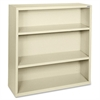 "Lorell Fortress Series Bookcases - 34.5"" x 13"" x 42"" - 3 x Shelf(ves) - Putty - Powder Coated - Steel - Recycled"