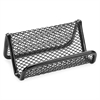 "Lorell Mesh Business Card Holder - 1.8"" x 3.9"" x 2.8"" - Steel - 1 Each - Black"