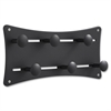 "Adjustable Wall Coat Rack - 8.3"" Height x 17.5"" Width x 2.8"" Depth - Wall Mountable - Black - Aluminum - 1 / Each"