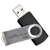 Compucessory Password Protected USB Flash Drives - 16 GB - USB 2.0 - Aluminum - 1 Pack - Password Protection