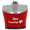 ExtremEdge V2 Knife & Shear Sharpener - Red - Ceramic, Tungsten Carbide - One-handed Operation - 1 Each