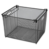 "Mesh Letter Filing Tub - External Dimensions: 16.1"" Width x 15.4"" Depth x 12.1"" Height - Steel - Black - For File - 1 Each"