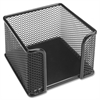 Lorell Mesh Memo Holder - Steel - 1 Each - Black