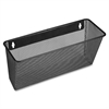 "Lorell Black Mesh Wire Wall Pocket - 6.6"" Height x 12.6"" Width x 4.8"" Depth - Wall Mountable - Black - 1Each"