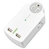Compucessory 3 Outlets Surge Suppressor - 3 x AC Power, USB - 612 J - 120 V AC Input - 5 V DC Output