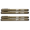 Disposable Technical Drawing Pens - 0.1 mm, 0.3 mm, 0.5 mm, 0.8 mm Point Size - Black Water Based Ink - 4 / Pack