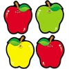 "Apple Cut-Outs - 36 Apple - 4.50"" Width x 5.50"" Length - Assorted - 1 Set"