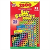 Trend Best Buddies SuperSpots Stickers - 2500 Shape - Photo-safe, Acid-free, Non-toxic - Assorted - 2500 / Pack