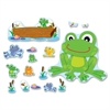"Carson-Dellosa Decorative Funky Frog Bulletin Board Set - Frog - 4"" Height x 6"" Width - Assorted - 1 / Set"
