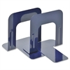 """MMF 5"""" Economy Bookends - 5"""" Height x 5.3"""" Width x 4.7"""" Depth - Recycled - Blue - Steel - 2 / Pair"""
