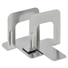 """MMF 5"""" Economy Bookends - 5"""" Height x 5.3"""" Width x 4.7"""" Depth - Recycled - Silver - Steel - 2 / Pair"""