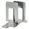 "MMF 9"" Deluxe Bookends - 9"" Height x 5.9"" Width x 8.2"" Depth - Recycled - Silver - Steel - 2 / Pair"