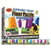 Carson-Dellosa Alphabet Train Floor Puzzle - Theme/Subject: Learning, Fun - Skill Learning: Alphabet, Letter, Picture Words - 26 Pieces