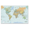 "Laminated World Map - World - 38"" Width x 25"" Height"