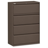 "Fortress Series 42'' Lateral File - 42"" x 18.6"" x 52.5"" - 4 x Drawer(s) for File - Letter, Legal, A4 - Lateral - Magnetic Label Holder, Ball Bearing Slide, Ball-bearing Suspension, Adjustable L"