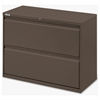 "Fortress Series 42'' Lateral File - 42"" x 18.6"" x 28"" - 1 x Shelf(ves) - 2 x Drawer(s) for File - Letter, Legal, A4 - Lateral - Magnetic Label Holder, Ball Bearing Slide, Ball-bearing Suspensio"