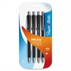 Paper Mate InkJoy 700 RT Ballpoint Pens - Medium Point Type - 1 mm Point Size - Black - High Gloss Black Barrel - 4 / Pack