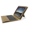 "Compucessory Keyboard/Cover Case (Portfolio) for iPad - Tan - Plastic - 8.4"" Height x 10.3"" Width x 1.2"" Depth"