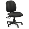 "Lorell Mid-Back Task Chair with out ut Arms - Fabric Black Seat - Fabric Black Back - 5-star Base - Black - 20"" Seat Width x 17"" Seat Depth - 20"" Width x 18"" Depth x 43"" Height"