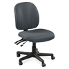 "Lorell Mid-Back Task Chair w/o Arms - Fabric Gray Seat - Fabric Gray Back - 5-star Base - Gray - 20"" Seat Width x 17"" Seat Depth - 20"" Width x 18"" Depth x 43"" Height"