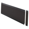 "Lorell Desktop Panel System Fabric Panel - 39.9"" Width x 0.5"" Depth x 11.8"" Height - Fabric, MDF, Aluminum - Black"