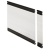 "Desktop Panel System Glazed Panel - 22.3"" Width11.8"" Height x 500 mil Thickness - Plexiglass, Aluminum - Clear"