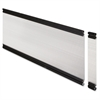 "Lorell Desktop Panel System Glazed Panel - 28.1"" Width11.8"" Height x 500 mil Thickness - Plexiglass, Aluminum - Clear"