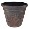 "Spring Hope Artificial Tree Container - 15.50"" Height x 13"" Diameter - Fiberglass - Dark Brown"