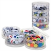 "ChenilleKraft Wiggle Eyes Stackable Storage Jar - 400 Piece(s) - x 0.28"", x 0.39"", x 0.47"", x 0.59"", x 0.79"" - 400 / Set - Assorted"