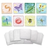 "ChenilleKraft 6"" Embossed Paper Insects Set - 6"" x 6"" - 24 / Set - White"
