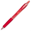 Gel Retractable BeGreen Pens - Fine Point Type - Needle Point Style - Refillable - Red Gel-based Ink - 1 Dozen