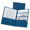 "Divide-It-Up Four-Pocket Folders - Letter - 8 1/2"" x 11"" Sheet Size - 125 Sheet Capacity - 4 Internal Pocket(s) - Paper - Navy - 20 / Box"