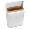 "Sanitary Napkin Disposal Unit - Rectangular - Corrosion Resistance - 10.6"" Height x 8.9"" Width x 4.6"" Depth - Plastic - White"