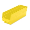 "Shelf Bin - 4"" Height x 4.1"" Width x 11.6"" Depth - Shelf - Yellow - Polymer - 1Each"