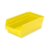 "Shelf Bin - 4"" Height x 6.6"" Width x 11.6"" Depth - Shelf - Yellow - Polymer - 1Each"