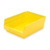 "Akro-Mils Economical Storage Shelf Bins - 4"" Height x 8.4"" Width x 11.6"" Depth - Shelf - Yellow - Polymer - 1Each"