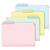 "Pendaflex Pastel Color File Folder - Letter - 8 1/2"" x 11"" Sheet Size - 1/3 Tab Cut - 11 pt. Folder Thickness - Assorted - 100 / Box"