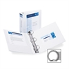 """Avery Economy View Round Ring Reference Binder - 3"""" Binder Capacity - Letter - 8 1/2"""" x 11"""" Sheet Size - 460 Sheet Capacity - 3 x Round Ring Fastener(s) - 2 Internal Pocket(s) - White - Recycled - 1 E"""