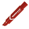 Marks-A-Lot Jumbo Chisel Tip Permanent Marker - 15.875 mm Point Size - Chisel Point Style - Red - Red Barrel - 1 Each
