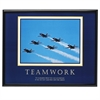 "Advantus Decorative Motivational Teamwork Poster - 30"" Width x 24"" Height - Black Frame"
