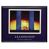 "Advantus Motivational Leadership Framed Poster - 30"" Width x 24"" Height - Black Frame"