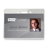 "Baumgartens ID Badge Holder - 3.9"" x 2.6"" - Vinyl - 50 / Pack - Clear"